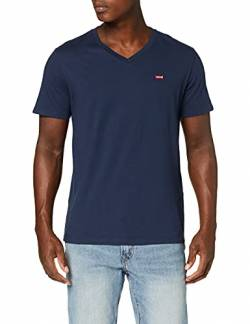 Levi's Herren Orig HM Vneck T-Shirt, Blau (Dress Blues 0002), L von Levi's