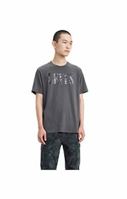Levi's Herren Relaxed Graphic Tee T-Shirt, Grau (90's Serif Logo Forged Iron 0045), Small von Levi's