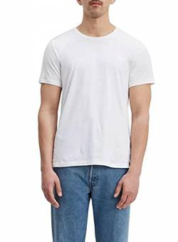 Levi's Herren 2 Pk Crewneck 1 T-Shirt, Mehrfarbig (2 Pack Slim Crew Dress Blues/White 0002), S von Levi's