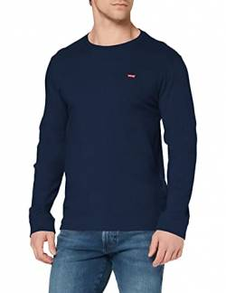Levi's Herren Original HM Tee T-Shirt, Blau (Ls Cotton + Patch Dress Blues 0001), S von Levi's