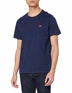 Levi's Herren SS Original HM Tee T-Shirt, Blau (Cotton + Patch Dress Blues 0017), S von Levi's