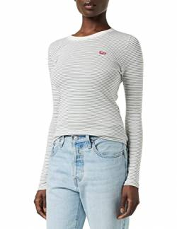 Levi's Damen Ls Baby Tee T-Shirt, Agnes Stripe Cloud Dancer 0010, X-Small von Levi's