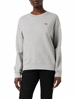 Levi's Damen Standard Crew Sweatshirt, Smokestack Heather, Large von Levi's