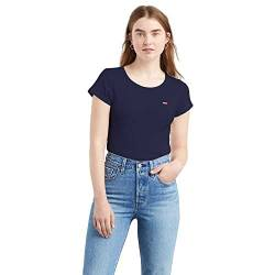 Levi's Damen 2PACK T-Shirt, 2 Pack Tee Smokestack & Sea Capitan Blue, Small von Levi's
