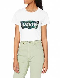 Levi's Damen The Perfect Tee T-Shirt, Batwing Greenery Film White+, XS von Levi's