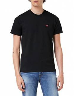 Levi's Herren SS Original HM Tee T-Shirt, Schwarz (Cotton + Patch Black 0009), X-Small von Levi's