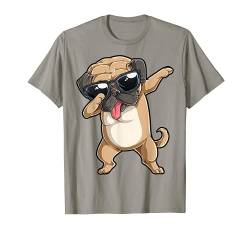 Dabbing Pug T shirt Dog Lover Kids Boys Girls Dab Dance Gift von Pug DU Clothing