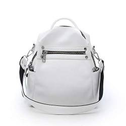 W Laptop Rucksack Frauen aus weichem Leder Kleiner Rucksack Designer Marke Multifunktions-Fest Schulranzen for Teenager Feminina Sac (Color : White, Size : XL) von LiuliuBull