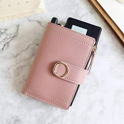 W Wallet Frauen Mappen Small Fashion Marken-Leder-Geldbeutel-Frauen-Dame-Karten-Beutel for Frauen-Kupplungs-Frauen weiblicher Geldbeutel Geldklammer Wallet (Color : DarkPink, Size : A) von LiuliuBull