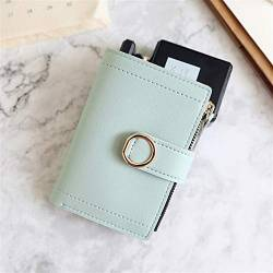 W Wallet Frauen Mappen Small Fashion Marken-Leder-Geldbeutel-Frauen-Dame-Karten-Beutel for Frauen-Kupplungs-Frauen weiblicher Geldbeutel Geldklammer Wallet (Color : LightGreen, Size : A) von LiuliuBull