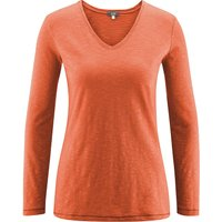 LIVING CRAFTS Langarm-Shirt Langarmshirts braun Damen Gr. 34 von Living Crafts