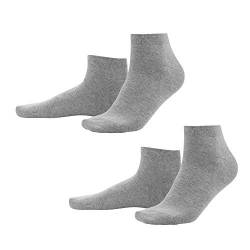 Living Crafts Sneaker-Socken, 2er Pack 43/46, stone grey von Living Crafts