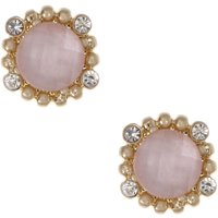 Damen Lonna And Lilly Kristall Stud Ohrringe vergoldet 60460980-2GR von Lonna And Lilly