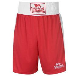 Lonsdale Herren Boxing-Shorts, kurze Hose, Training-Shorts, Sporthose Small rot / weiß von Lonsdale