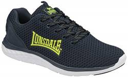 Lonsdale Mens Silwick Road Running Shoe, Navy/Lime, 42 2/3 EU von Lonsdale