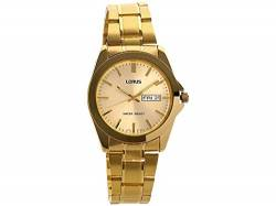 Men's Gold Tone Bracelet Watch von Lorus