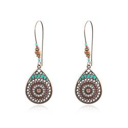 LoveAloe Einzelne Ohrringe Hollow Boho Ethnic Wind Drop Shaped Earrings von LoveAloe