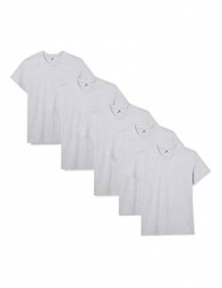 Lower East Herren T-Shirt mit Rundhalsausschnitt, 5er Pack, Grau(Grau), Medium von Lower East