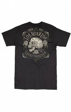 Lucky 13 T-Shirt Dead Skull Black-XL von Lucky 13