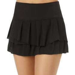 Wavy Pleat Tier Rock Damen von Lucky in Love