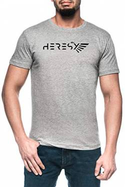 Heresy White Herren Grau T-Shirt Kurzarm Men's Grey T-Shirt von Luxogo