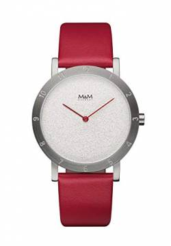 M&M Damen-Armbanduhr Numbers Analog Quarz M11934-622 von M&M