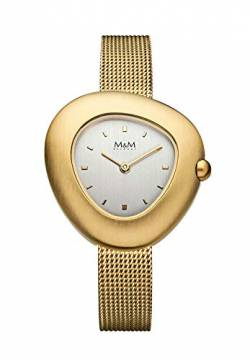 M&M Damen-Armbanduhr Pebble Analog Quarz M11924-212 von M&M