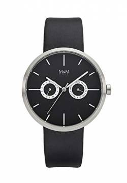 M&M Damen-Armbanduhr Two Eye Analog Quarz M11938-425 von M&M