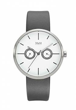 M&M Damen-Armbanduhr Two Eye Analog Quarz M11938-827 von M&M
