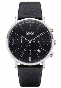 M&M Herren-Armbanduhr New Chrono Analog Quarz M11942-446 von M&M