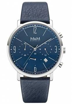 M&M Herren-Armbanduhr New Chrono Analog Quarz M11942-849 von M&M