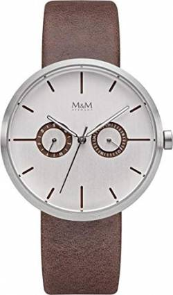 M&M Damen-Armbanduhr Two Eye Analog Quarz M11938-522 von M&M