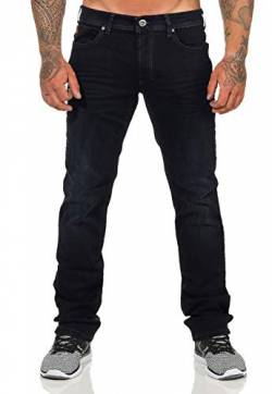 M.O.D Miracle of Denim Herren Jeans Thomas Comfort Black Blue Denim gerades Bein, Größe:W36 L34 von M.O.D