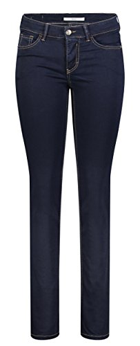 MAC Damen Carrie Pipe Straight Jeans, Blau (Dark D801), 38 / 34L von MAC Jeans