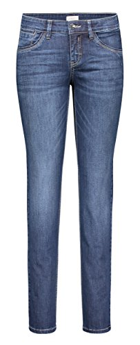 MAC Jeans Damen Carrie Pipe Jeans, Blau (Dark Blue D845), W34/L28 von MAC Jeans