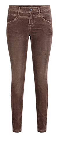 MAC Jeans Damen Slim Velvet Hose, 278 Fawn Brown, 36/30 von MAC Jeans