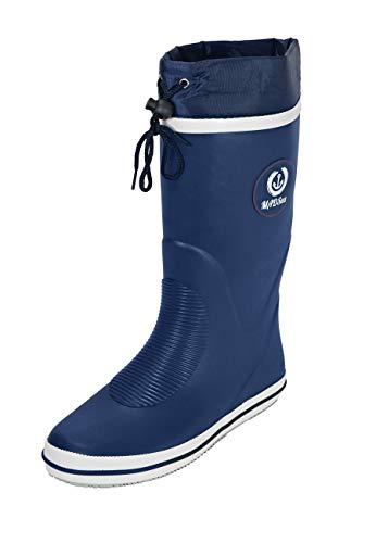 PLAYSHOES Damen hohe Gummistiefel Mädchen Stiefel Regenstiefel Langschaft