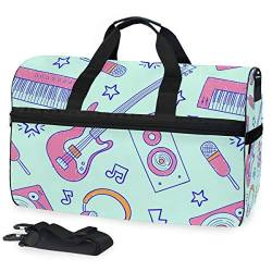 MALPLENA Cool Music Packable Duffle Bag for Men Women Tear Resistant Sports Duffle von MALPLENA