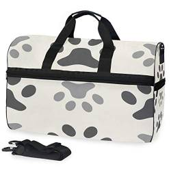 MALPLENA Dog Paw Packable Duffle Bag for Men Women Tear Resistant Sports Duffle von MALPLENA