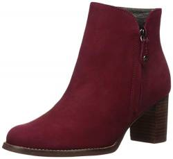 MARC JOSEPH NEW YORK Damen Leather Block Heel Ankle Boot Stiefelette, Nubuk Rouge, 40 EU von MARC JOSEPH NEW YORK