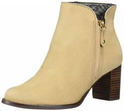 MARC JOSEPH NEW YORK Damen Leather Block Heel Ankle Boot Stiefelette, Sandfarbenes Nubuk, 37 EU von MARC JOSEPH NEW YORK