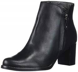 MARC JOSEPH NEW YORK Damen Leather Block Heel Ankle Boot Stiefelette, Schwarzer Nappa, 37 EU von MARC JOSEPH NEW YORK
