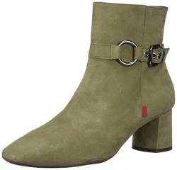 MARC JOSEPH NEW YORK Damen Leather Block Heel With Buckle Detail Madison Bootie Stiefelette, Nubukleder, 37 EU von MARC JOSEPH NEW YORK
