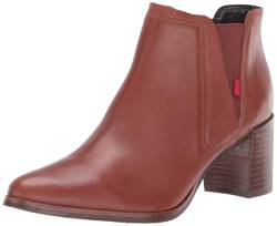 MARC JOSEPH NEW YORK Damen Leather Block Heel with Elastic Detail Amsterdam Bootie Stiefelette, Orange Nappa, 38 EU von MARC JOSEPH NEW YORK
