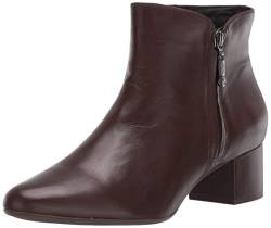 MARC JOSEPH NEW YORK Damen Leather Block Heel with Zipper Detail Spruce Street Bootie Stiefelette, Brauner Nappa, 38 EU von MARC JOSEPH NEW YORK