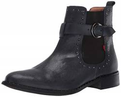 MARC JOSEPH NEW YORK Damen Leather Chelsea Boot with Buckle and Stud Detail Chukka, Stiefel, Marineblau, 41 EU von MARC JOSEPH NEW YORK