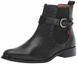MARC JOSEPH NEW YORK Damen Leather Chelsea Boot with Buckle and Stud Detail Chukka, Stiefel, Schwarz glasiert, 39 EU von MARC JOSEPH NEW YORK