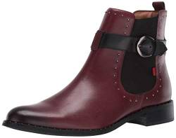 MARC JOSEPH NEW YORK Damen Leather Chelsea Boot with Buckle and Stud Detail Chukka, Stiefel, Weinfarbiger gebürsteter Nappaleder, 38 EU von MARC JOSEPH NEW YORK