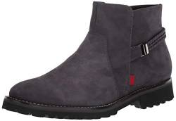 MARC JOSEPH NEW YORK Damen Leather Eva Lightweight Technology Columbus Circle with Braid Detail Stiefelette, Grau (Nubuk), 43 EU von MARC JOSEPH NEW YORK