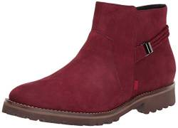 MARC JOSEPH NEW YORK Damen Leather Eva Lightweight Technology Columbus Circle with Braid Detail Stiefelette, Nubuk Rouge, 38.5 EU von MARC JOSEPH NEW YORK